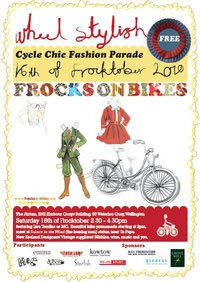 Poster image for Frocks on Bikes event