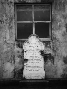 Headstone and window