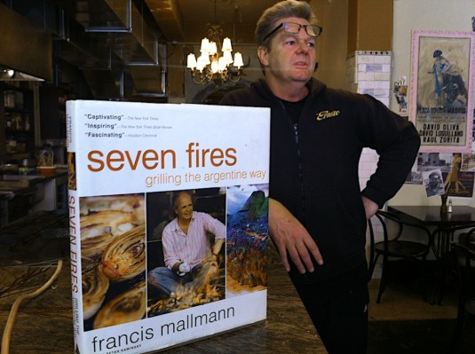 Mike Marsland and a useful book for any aspiring Argentinean Asador cook: Seven Fires, by Francis Mallmann