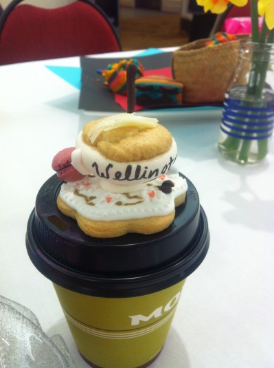 ridiculous tiny coffee cup shaped biscuits