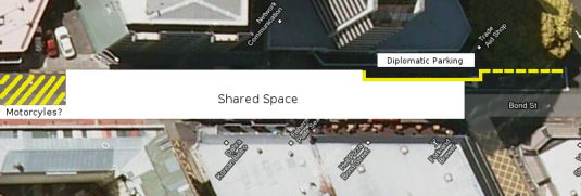 Indication of area used as a shared space