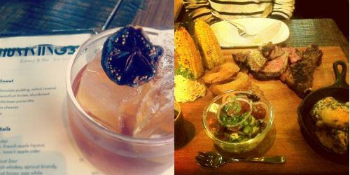 drink and food at hummingbird