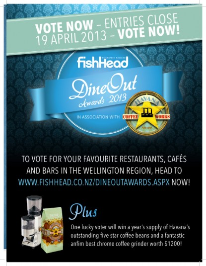 FishHead DineOut awards 2013