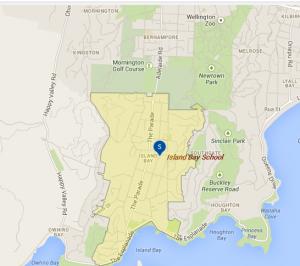 Island Bay School Zone - not including Berhampore