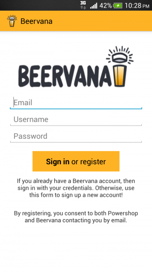 Screengrab of Beervana App lo