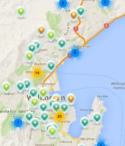 Overview map of new resource consents in Wellington