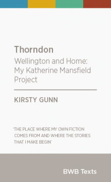 Cover - Thorndon by Kirsty Gunn