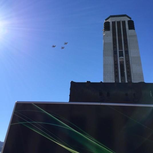 Biplanes over Pukeahu