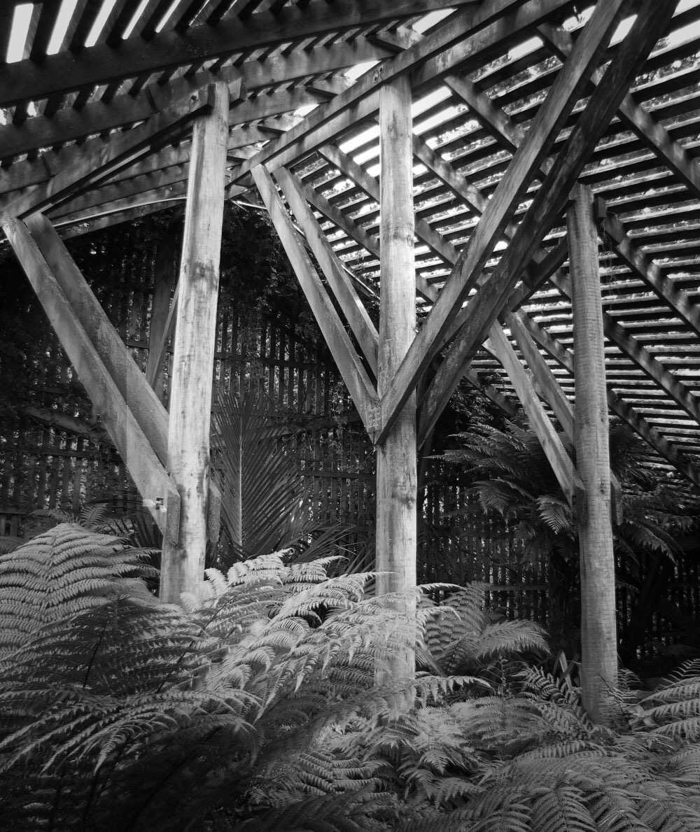 Interior of the Shadehouse at Aotea Lagoon.