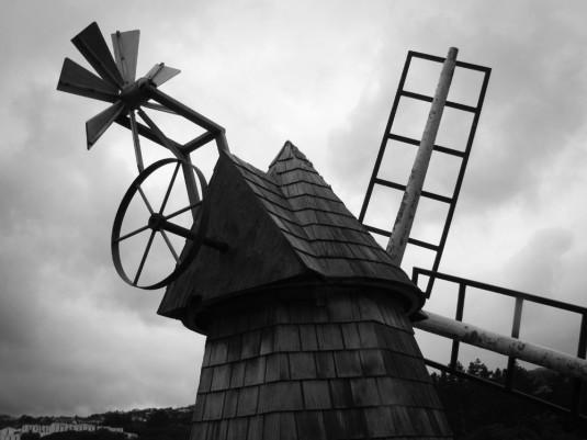 Aotea Lagoon windmill.