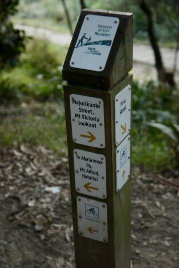 Sign Post, Mount Victoria Town Belt.