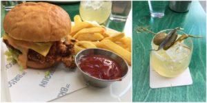 The Bresolin. L-R: Fowl Play burger, Captain Nemo's Demise.