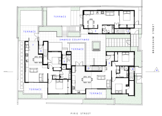 Zavos Corner ground floor plan