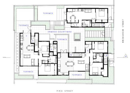 Zavos Corner ground floor plan