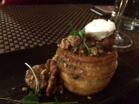 mushroom tart with goat's cheese