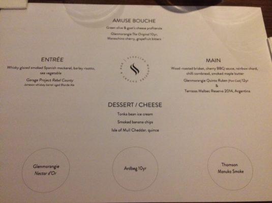 menu details
