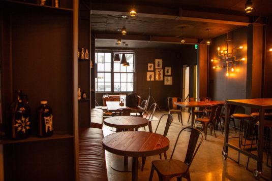 the upstairs bar at Black Dog