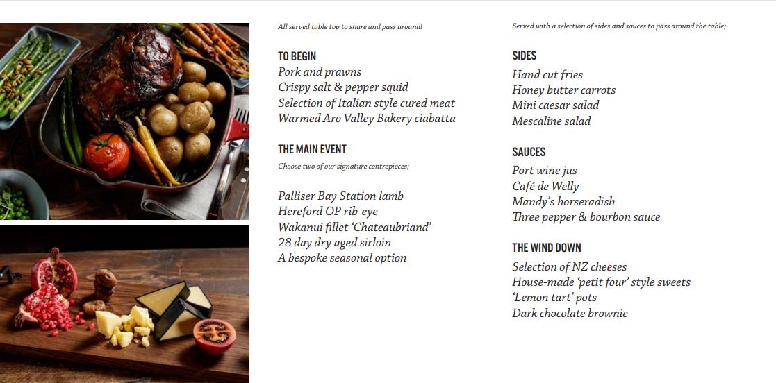 details of the portlander menu