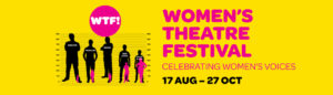 Logo for the Womens Theatre Festival aka WTF