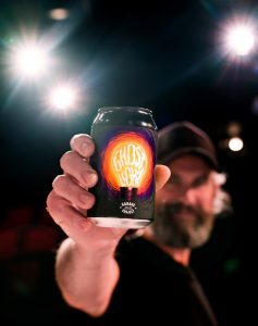 Pete Gilespie - Co-Founder of Garage Project - with a can of the new Ghost Light beer