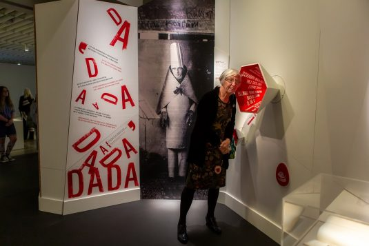 A visitor hears voices of Dada